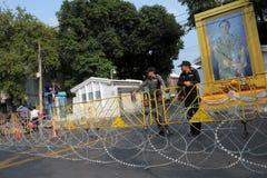 blokowa rzędu hq outside polici droga tajlandzka Obrazy Royalty Free
