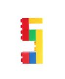 Blokowa zabawka liczba 5 pięć Obrazy Stock