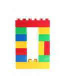 Blokowa zabawka liczba (0) zero Fotografia Royalty Free