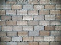 blokowe ceglanej warstwy futrówki ściany Zdjęcie Stock