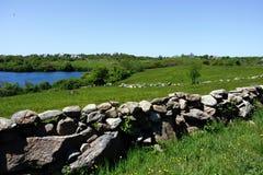 Blokowej wyspy wieś Obrazy Stock