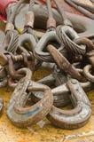 blokowi kable crane przemysłowego sprzęt Zdjęcie Royalty Free