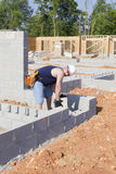 blokowy betonowy kamieniarz Obrazy Royalty Free