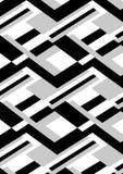 Blokowy czarny i biały. Obraz Royalty Free