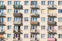 blokowy mieszkań vertical widok Zdjęcia Royalty Free