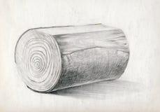 blokowy rysunkowy drewno Fotografia Royalty Free