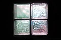 blokowy szklany oświetleniowy pokój Obraz Royalty Free
