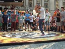 Blokpartij in Universitatii-Vierkant in Boekarest, Roemenië Royalty-vrije Stock Fotografie