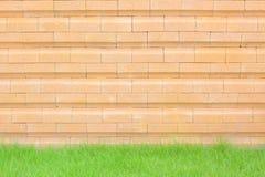 bloku kamiennej ściany kolor żółty Obrazy Royalty Free