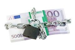 blokujący przykuwający euro Fotografia Stock