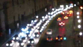 Blokujący ruch drogowy wśrodku Rzym zdjęcie wideo