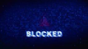 Blokuj?ca teksta ha?asu drgania usterki wyko?lawienia skutka b??du cyfrowa animacja royalty ilustracja