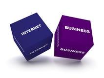 blokuje biznesowych internety Obrazy Stock