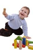 blokuje chłopiec bawić się Fotografia Royalty Free