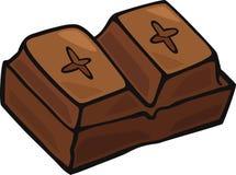 blokuje czekoladę Zdjęcia Royalty Free