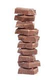 blokuje czekoladę Zdjęcie Stock