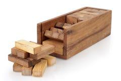 blokuje drewnianego Zdjęcia Stock