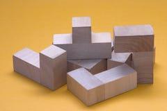 blokuje drewnianego Obraz Stock