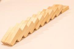 blokuje drewniany Obrazy Stock