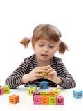 blokuje dziewczyny bawić się mały Obraz Stock