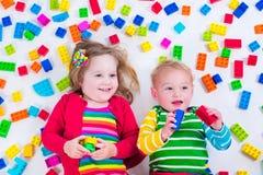 blokuje kolorowy bawić się dzieciaków Obraz Stock