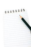 blokuje notatka ołówek Zdjęcie Stock
