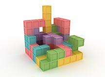 blokuje tetris Obrazy Stock