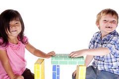bloków dzieciaki dwa Zdjęcia Royalty Free