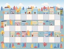 Blokweg op de stad Royalty-vrije Stock Afbeeldingen