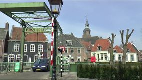 Blokzijl is an historic stock video footage