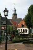 blokzijl houses nederländskt pittoreskt litet Royaltyfria Bilder