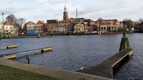 Blokzijl Nederländerna royaltyfri fotografi