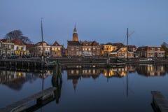 Blokzijl und Hafen am Abend Lizenzfreie Stockfotografie