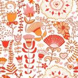 Blom- ändlös modell i rosa färger Utsmyckad blom- sömlös textur, Arkivbilder
