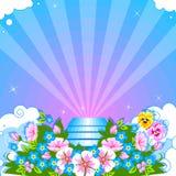 blom- stock illustrationer