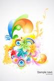 blom- abstrakt bakgrund royaltyfri illustrationer