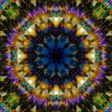 blom- abstrakt bakgrund Etnisk modell för fantasi Färgrik kalejdoskoptextur Dekorativ Mandalaprydnad vektor illustrationer