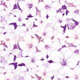 Blom- abstrakt bakgrund i skuggor av lilor Royaltyfria Bilder