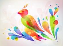 Blom- abstrakt bakgrund. Vektorillustration Arkivfoton