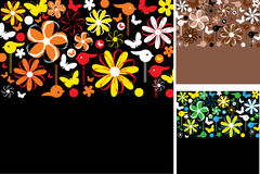blom- abstrakt bakgrunder Arkivfoto