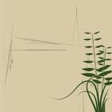 blom- abstrakt design stock illustrationer