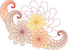 blom- abstrakt design Royaltyfri Fotografi