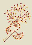 blom- abstrakt design Royaltyfria Bilder
