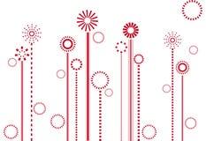 blom- abstrakt design Arkivbilder