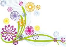 blom- abstrakt design Royaltyfri Foto