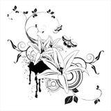 blom- abstrakt element Royaltyfri Bild