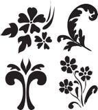 blom- abstrakt element stock illustrationer
