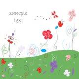 Blom- abstrakt hälsningkort Royaltyfri Foto