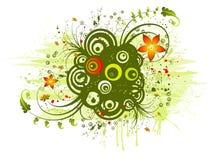 blom- abstrakt kaos stock illustrationer