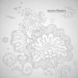 blom- abstrakt sammansättning Stock Illustrationer